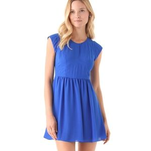 REBECCA TAYLOR Easy Dress Lapis Blue Size 2